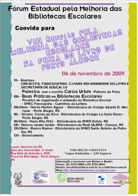 Cartaz Forum Feira do Livro
