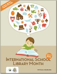 Cartaz Mês Internacional Bibliotecas Escolares
