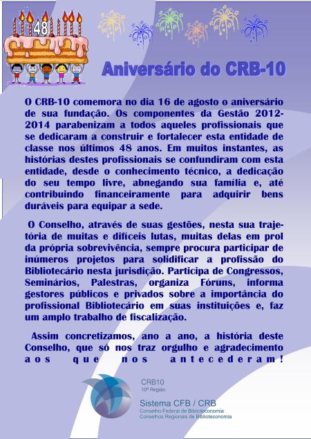 aniversario do crb
